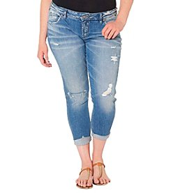 Silver Jeans Co. Plus Size Destructed Boyfriend Jeans