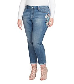 Jessica Simpson Plus Size Mika Bestfriend Embroidered Jeans