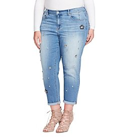 Jessica Simpson Plus Size Mika Jeweled Jeans
