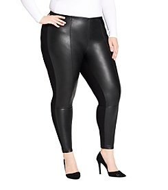 Jessica Simpson Plus Size Faux Leather Leggings