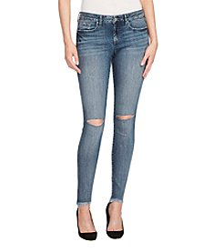 William Rast Ripped Knee Frayed Hem Skinny Jeans
