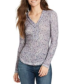 William Rast® Woodland North Henley PaisleyTop