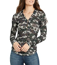 William Rast® Woodland North Henley Printed Top