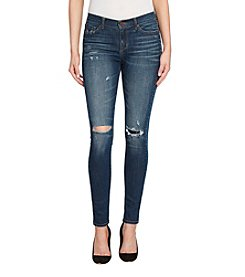 William Rast Destructed Stud Detail Skinny Jeans