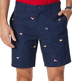 Nautica Men's Big & Tall Classic Fit Allover Sailing Flag Short