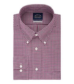 Eagle Men's Long Sleeve Gingham Button Down Dress Shirt
