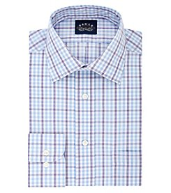 Eagle Men's Long Sleeve Checked Plaid Button Down