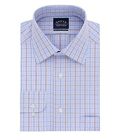 Eagle Men's Long Sleeve Check Spread Button Down Dress Shirt