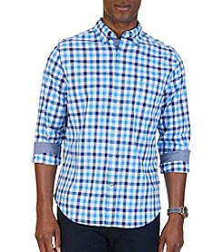 Nautica® Men's Tattersall Long Sleeve Button Down