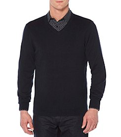 Perry Ellis® Men's Long Sleeve V-Neck Sweater