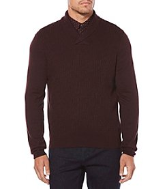 Perry Ellis® Men's Long Sleeve Cable Shawl Pullover Cardigan