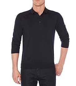 Perry Ellis® Men's Long Sleeve Solid Polo Sweater