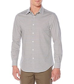 Perry Ellis® Men's Long Sleeve Diamond Print Button Down