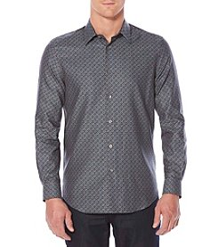 Perry Ellis® Men's Long Sleeve Herringbone Button Down