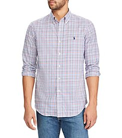 Polo Ralph Lauren® Men's Big & Tall Plaid Long Sleeve Button Down