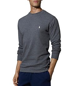 Polo Ralph Lauren Men's Big & Tall Waffle Knit Crew Neck Shirt