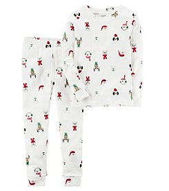 Carter's Boys' 10-12 2 Piece Holiday Snug Fit Cotton PJs
