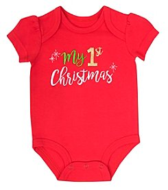 Cuddle Bear® Baby Girls' First Christmas Bodysuit