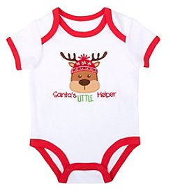 Cuddle Bear® Baby Boys' Santa Helper Bodysuit