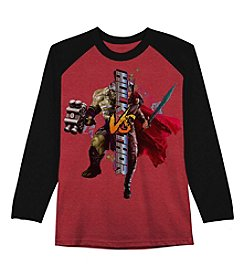 Hybrid™ Boys' 8-20 Long Sleeve Hulk Vs Thor Shirt