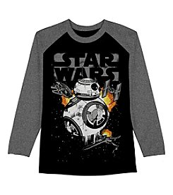 Star Wars™ Boys' 8-20 Long Sleeve Star Wars BB8 War Scene Shirt