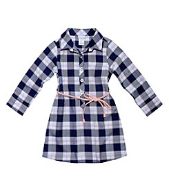 Sweet Heart Rose® Girls' 2T-4T Long Sleeve Plaid Shirt Dress