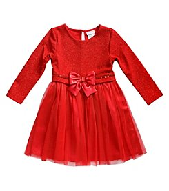 Sweet Heart Rose® Girls' 2T-6X Long Sleeve Sparkle Tulle Dress