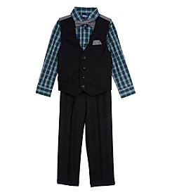 Nautica Boys' 2T-7 3 Piece Check Vest Set