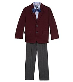 Nautica Boys' 2T-7 3 Piece Knit Denim Duo Suit Set