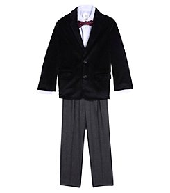 Nautica Boys' 2T-7 3 Piece Velvet Duo Blazer Suit Set