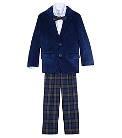 Nautica Boys' 2T-7 3 Piece Velvet Blazer Suit Set