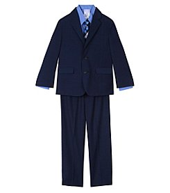 Nautica Boys' 2T-7 3 Piece Glen Plaid Suit Set