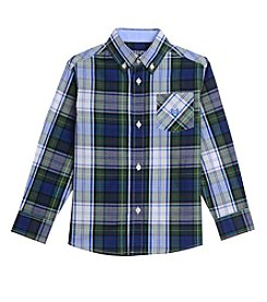 Chaps® Boys' 4-16 Long Sleeve Stretch Woven Plaid Shirt