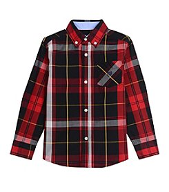 Chaps® Boys' 4-20 Long Sleeve Woven Plaid Shirt