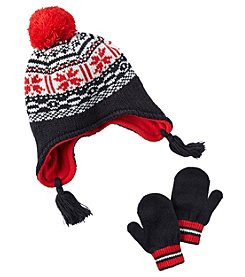 Carter's Boys' 12 Months-4T Fair Isle Hat and Mitten Set