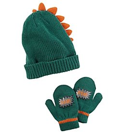Carter's Boys' 12 Months-4T Dino Hat and Mittens Set