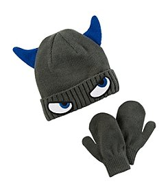 Carter's Boys' Monster Hat and Mittens Set
