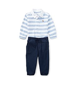 Ralph Lauren® Baby Boys' 3M-24M Oxford Top & Joggers