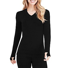 Cuddl Duds® FlexFit V-Neck Top