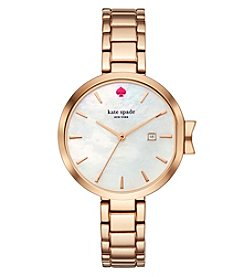 kate spade new york Women's Park Row Rose Goldtone Watch
