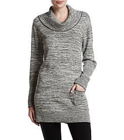 Jeanne Pierre Cowl Neck Space Dye Tunic