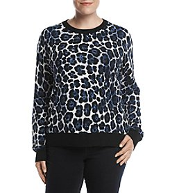 MICHAEL Michael Kors Plus Size Animal Printed Sweater