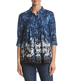 Nine West Jeans Robin Pintuck Earthbound Tie Dye Shirt
