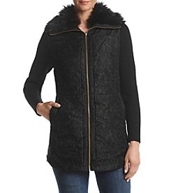 Rafaella Sweater Sleeve Quilted Jacket