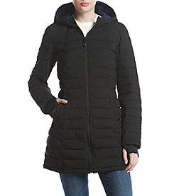 HFX Halifax Quilted Design Hooded Coat