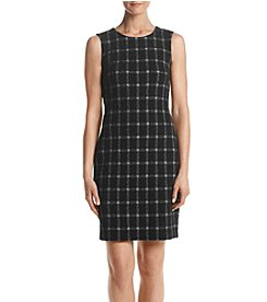Calvin Klein Plaid Ponte Dress