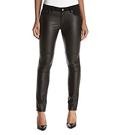 MICHAEL Michael Kors Faux Leather Front Skinny Pants