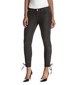 MICHAEL Michael Kors Grommet Side Lace Skinny Pants