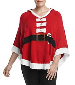Love Always Plus Size Santa Poncho With Hood