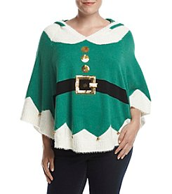 Love Always Plus Size Elf Poncho With Hood